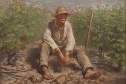 Jean-François Millet (1814-1875), Vineyard laborer resting, 1869